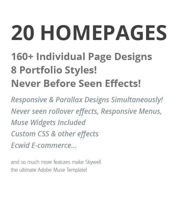 Skywell - MultiPurpose Adobe Muse Template - 2