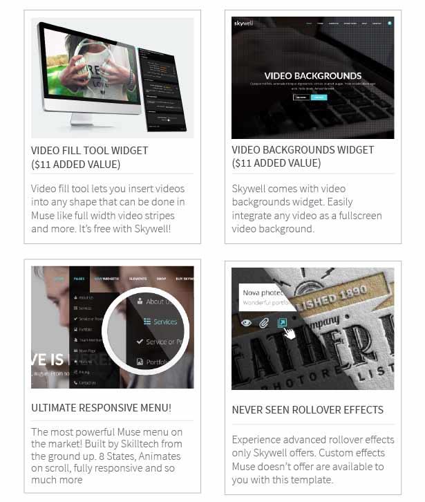 Skywell - MultiPurpose Adobe Muse Template - 11